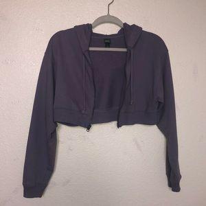 Cropped purple jacket
